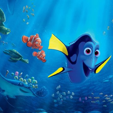 Dory, Nemo and Marlin from the Disney movie Finding Dory