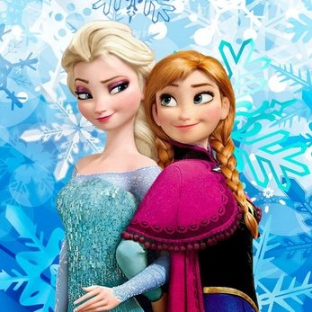 Elsa and Anna from the Disney film Frozen