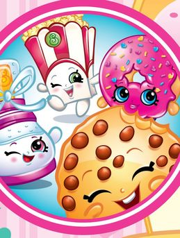 Shopkins, Cupcake Queen. Kooky Cookie. Strawberry Kiss. Apple Blossom. D'lish Donut. Shoppies. Cheeky Chocolate.
